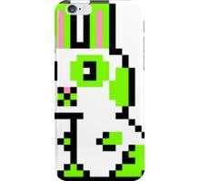 Green Spotted Pixel Bunny  iPhone Case/Skin