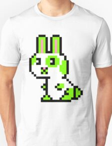 Green Spotted Pixel Bunny  T-Shirt