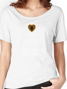 Keep Calm and Counterpartshipping Women's Relaxed Fit T-Shirt