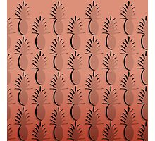 Pineapple Lines - coral Photographic Print