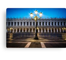 Lights of Saint Mark Square Canvas Print