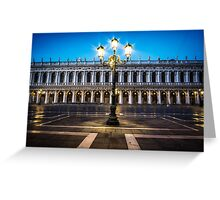 Lights of Saint Mark Square Greeting Card