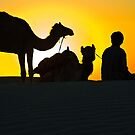 Sunset at Khuri Sand Dunes by Mukesh Srivastava