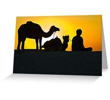 Sunset at Khuri Sand Dunes Greeting Card