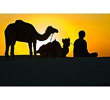 Sunset at Khuri Sand Dunes Photographic Print