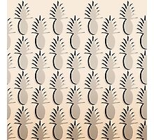 Pineapple Lines - ivory Photographic Print