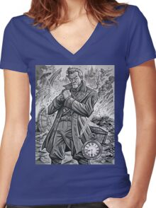 The War Doctor Women's Fitted V-Neck T-Shirt