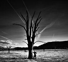 Lake Hume B&W by John Vandeven