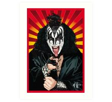 Kiss Gene Simmons vector art Art Print