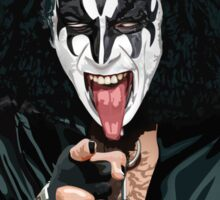 Kiss Gene Simmons vector art Sticker