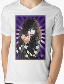 Kiss Paul Stanley vector pop art Mens V-Neck T-Shirt
