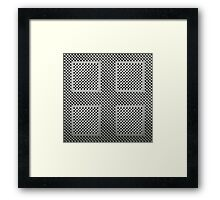 Shimmer Grid - gray Framed Print