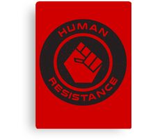 Human Resistance All Black Canvas Print