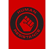 Human Resistance All Black Photographic Print