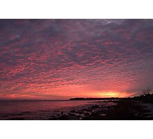 Red Sky at Night - Sailors Delight Photographic Print