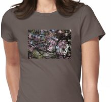 Spring Plum Blossoms Womens Fitted T-Shirt