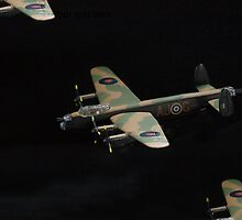 Lancaster.....close company........! by Roy  Massicks