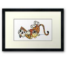 Calvin and Hobbes ROTFL Framed Print