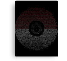 Typography Pokeball Canvas Print
