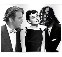 Audrey Hepburn Chooses Between Darth Vader & Captain Kirk Poster