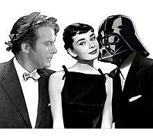 Audrey Hepburn Chooses Between Darth Vader & Captain Kirk Photographic Print