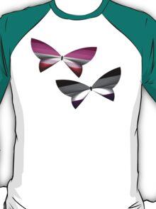 Lesbian Ace Pride Butterflies T-Shirt