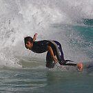 Surfer Turning Sharply by Hugh Chaffey-Millar