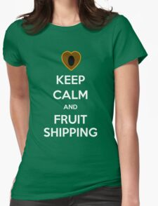 Keep Calm and Fruitshipping! Womens Fitted T-Shirt
