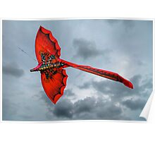 Red Dragon Kite Poster