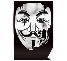 Anonymous Skull Mask Poster