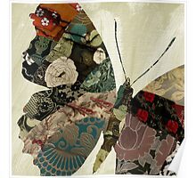 Butterfly Brocade Poster