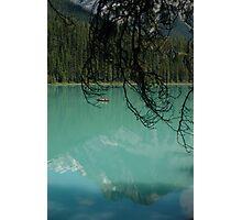 Emerald lake - Red Canoe Photographic Print