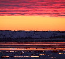 Sunset at Churchill, Canada by Carole-Anne
