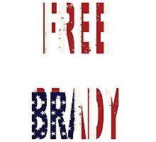 FREE BRADY AMERICAN FLAG Photographic Print