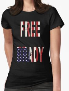 FREE BRADY AMERICAN FLAG Womens Fitted T-Shirt