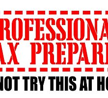 Professional Tax Preparer Do Not Try This At Home by uniquecreatives