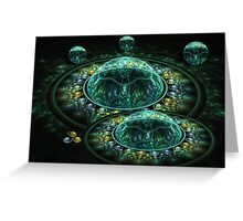 Green galaxies Greeting Card