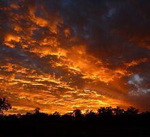 Sunset from Goodna Mine by JQuinn