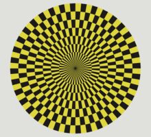 Op Art - Yellow and Black by Artberry