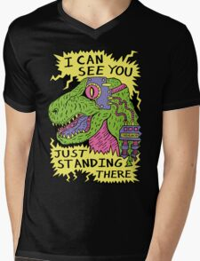 Eye Rex Mens V-Neck T-Shirt