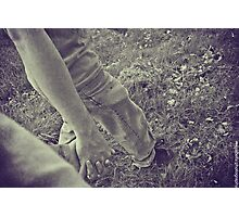 the spaces between my fingers are right where yours fit perfectly. Photographic Print