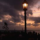 Mallory Square Busker-Sunset by JimSanders