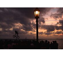 Mallory Square Busker-Sunset Photographic Print