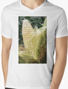 Corn up close and personal Mens V-Neck T-Shirt