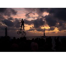 Mallory Square Sunset-Busker Photographic Print