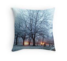 Frosty lights  Throw Pillow