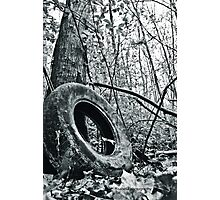 Gully Tire Photographic Print