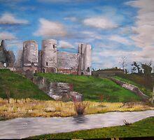 Rhuddlan Castle by mark stafford