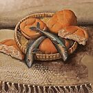 Five Loaves: Acrylic on Canvas  by RodneyCleasby