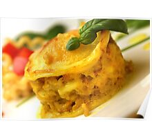 Chicken-Curry-Lasagna With Yellow Pepper Cream Poster